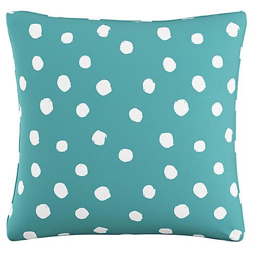 Jennifer 20x20 Pillow, Aqua