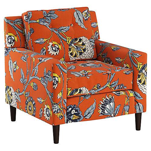 Winston Club Chair, Auretta Persimmon