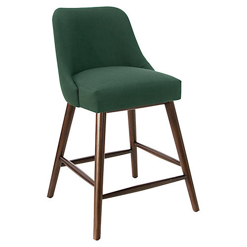 Barron Counter Stool, Forest Linen