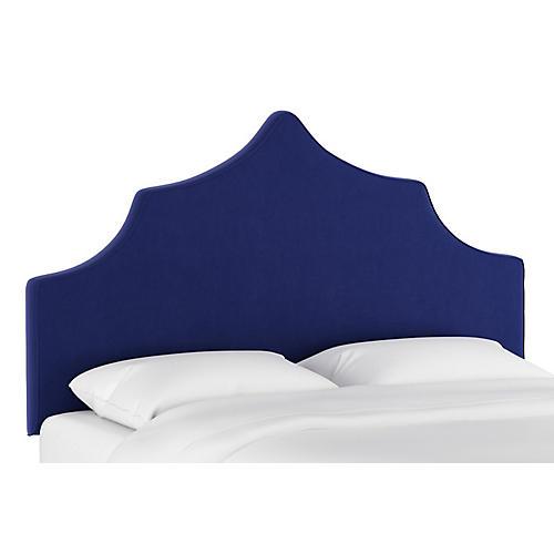 Camille Headboard, Blue Velvet