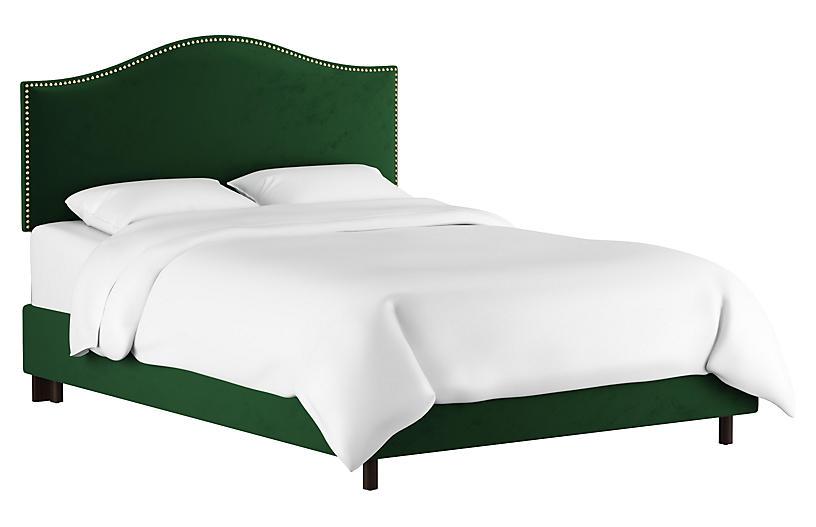 Tallman Bed, Emerald Velvet