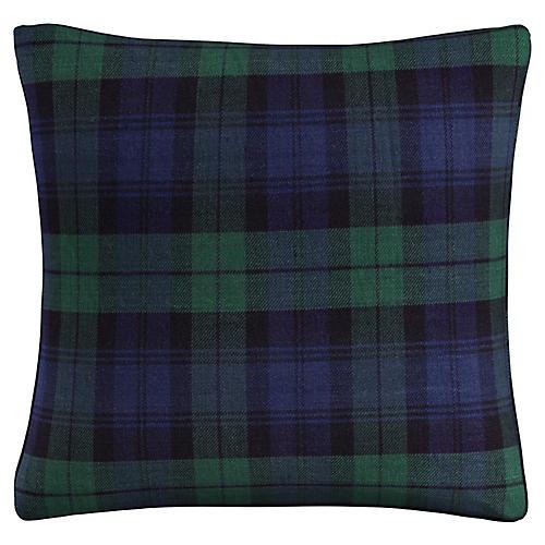Union 20x20 Pillow, Navy Plaid