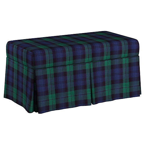 Hayworth Storage Bench, Navy/Multi