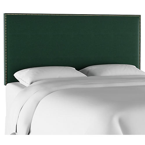Loren Headboard, Forest Green Linen