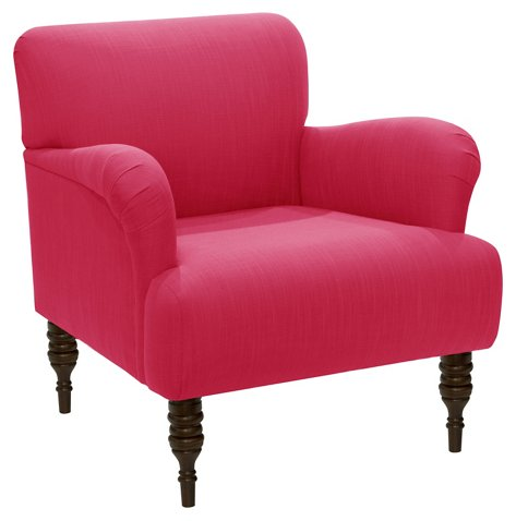 Tina Club Chair, Fuchsia Linen - Club Chairs - Chairs - Living Room ...
