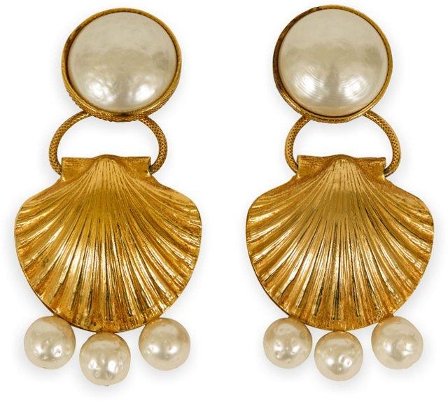 Dominique Aurientis Shell Earrings