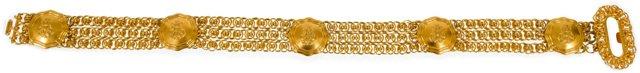 Emilio Pucci Triple Chain Gold Belt II
