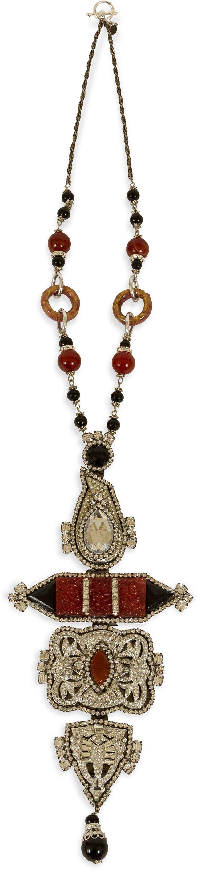 Lawrence Vrba Art Deco-Style Necklace