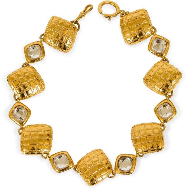 Chanel Rhinestone & Pendant Necklace