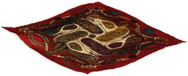 Hermès Festival Pleated Silk Scarf