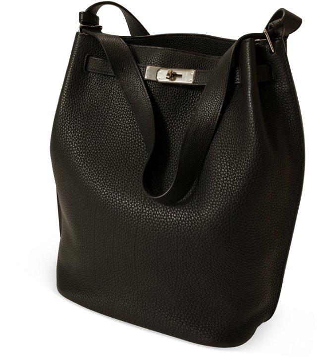 Hermès Black Togo So Kelly Bag 26