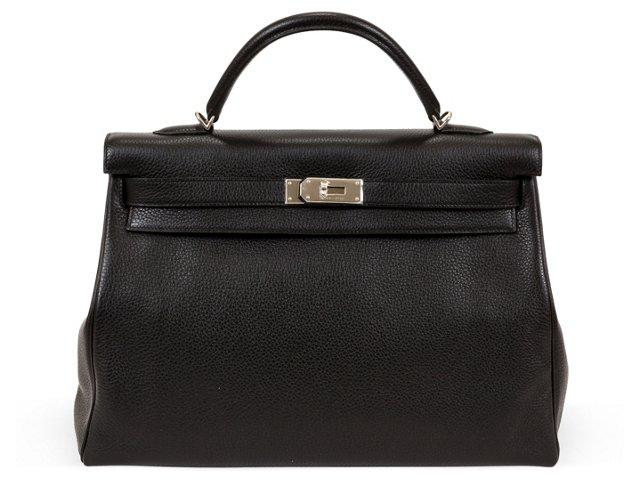 Hermès Black Togo Kelly Bag 40