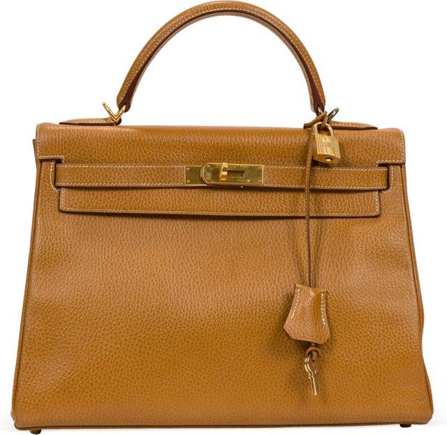 Hermès Gold Ardenne Kelly Bag 32
