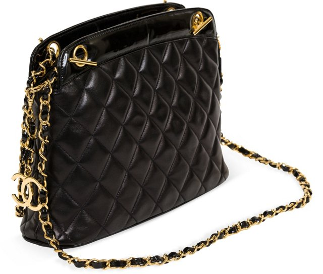 Chanel Lambskin & Patent Leather Bag