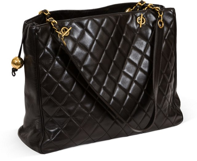 Chanel Oversize Quilted Black Tote