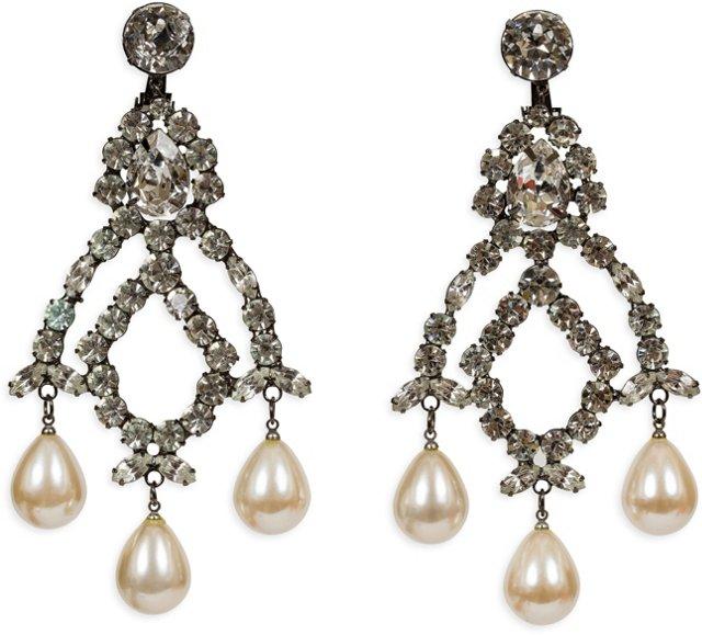 Kenneth Jay Lane Rhinestone Earrings II