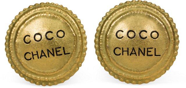 Chanel Oversize Coco Earrings