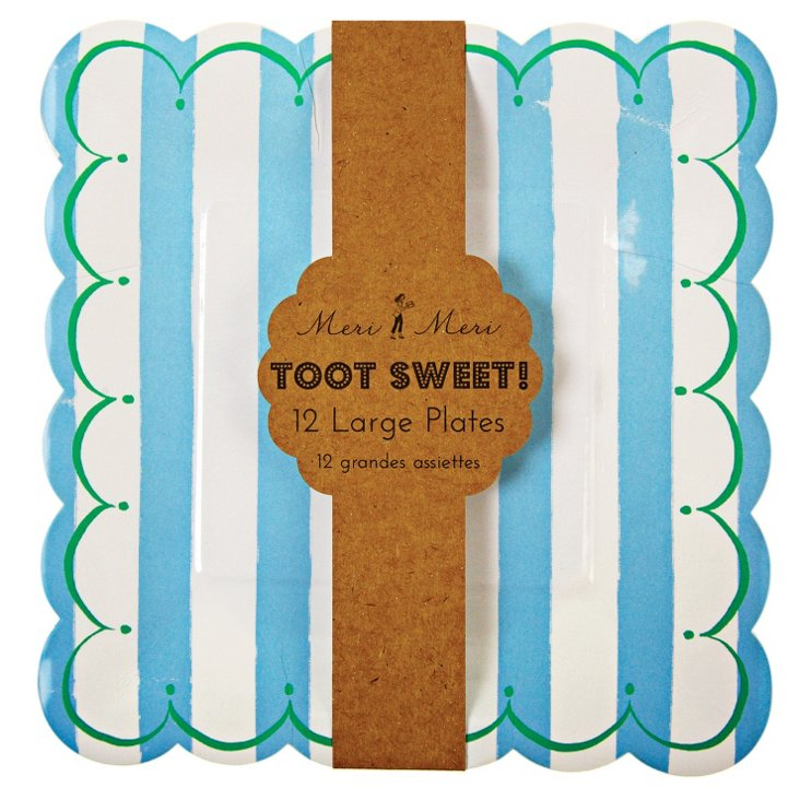 S/48 Large Toot Sweet Plates, Blue