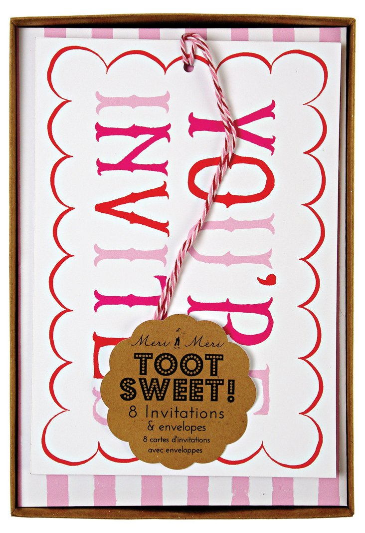 S/16 Toot Sweet Invitations, Pink