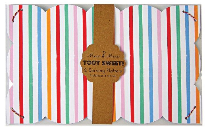 S/8 Toot Sweet Serving Platters