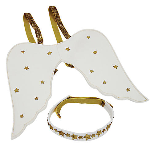 Little Angel Dress-Up Kit, Gold/White