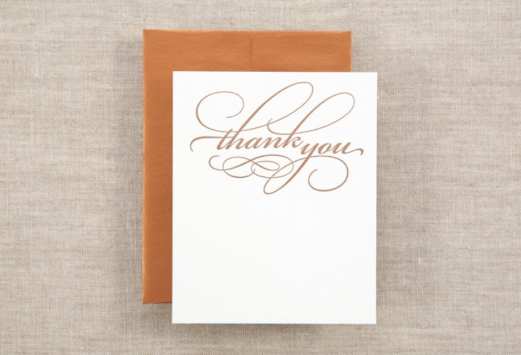S/12 Swirly Thank You Notes