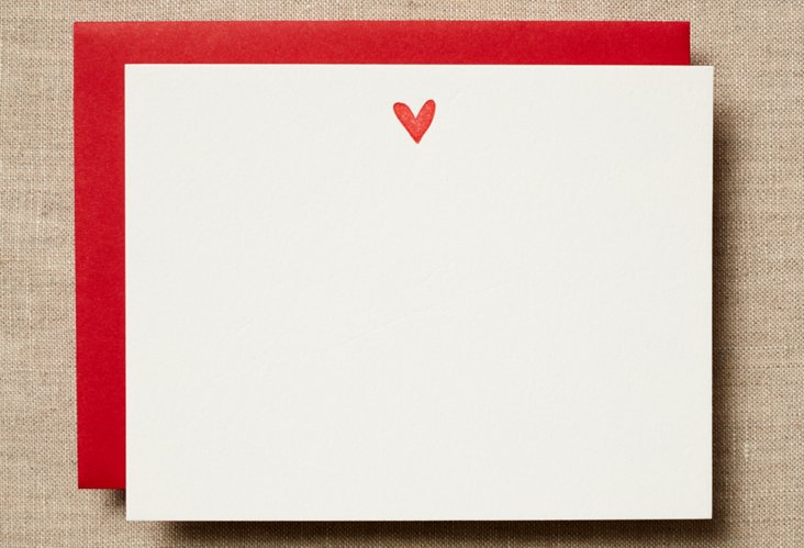 Set of 12 Cherry Heart Cards