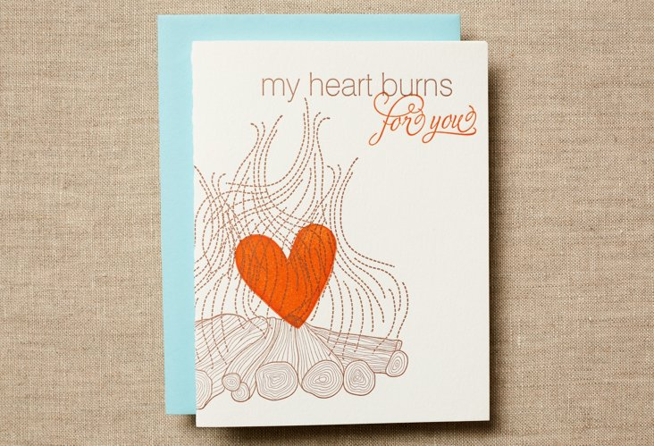 Set of 12 My Heart Burns Cards