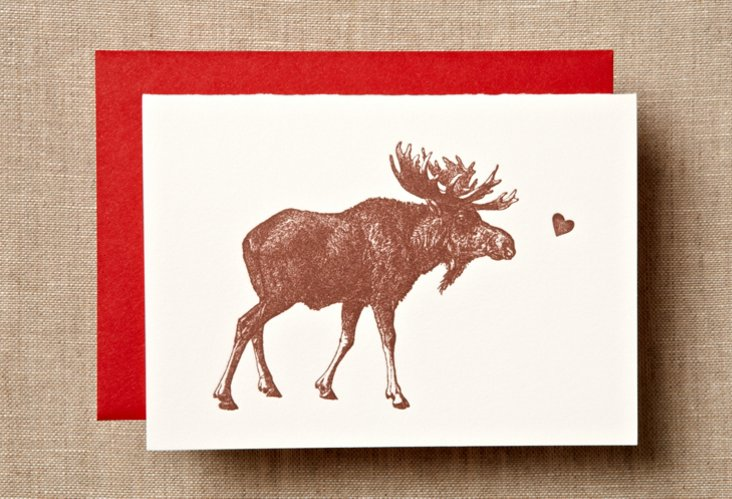 S/12 Moose Love Note Cards