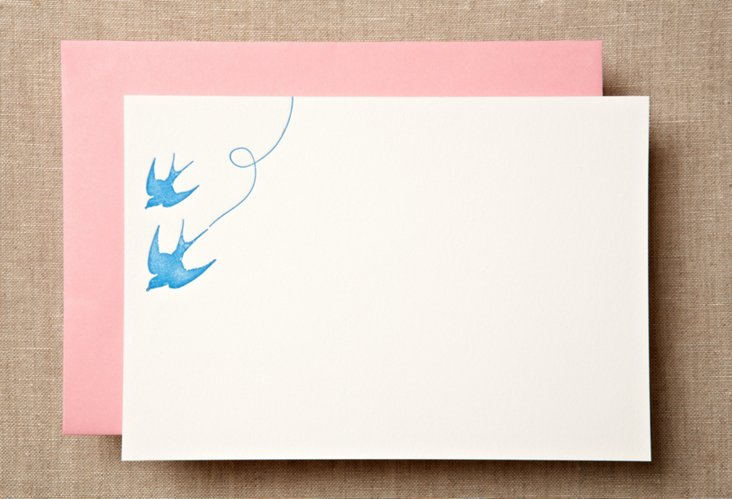 S/12 Sky Swallows Note Cards