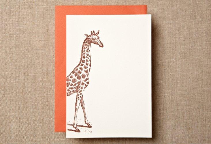 S/12  Giraffe Note Cards
