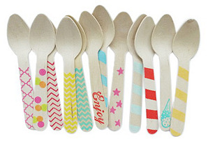 S/40 Wood Spoons, Variety Pack