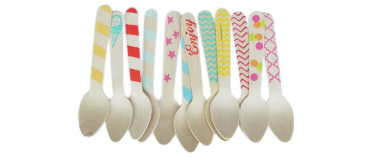 S/40 Assorted Wood Spoons, Variety Pack