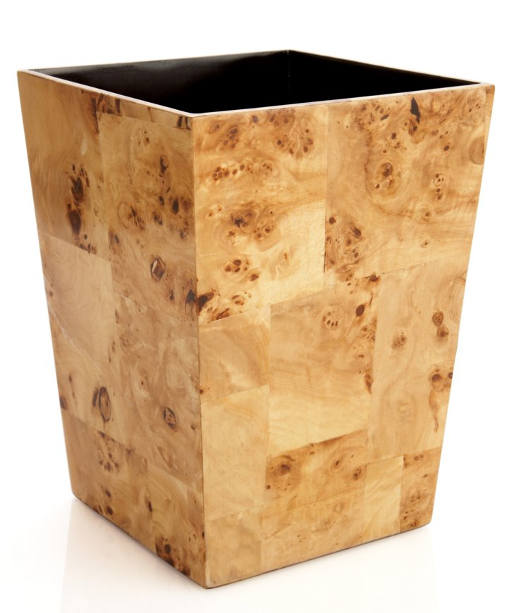 Natural Pioppo Wastebasket