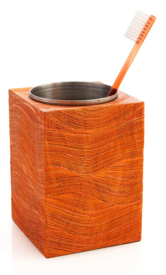 Corn Husk Bath Cup, Orange