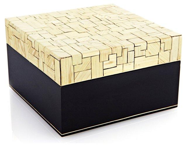 Corn Husk Veneer Box