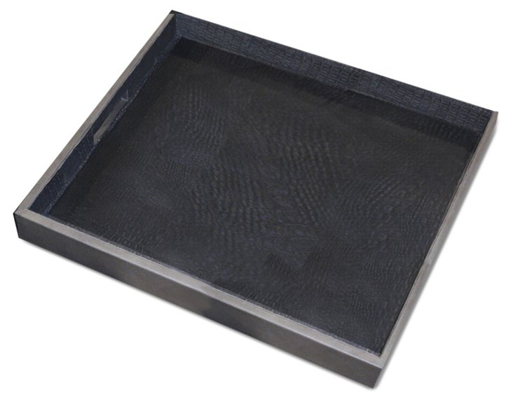 20x20 Snake Leather Tray