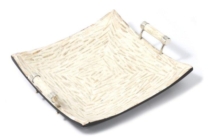 White Almond Tray