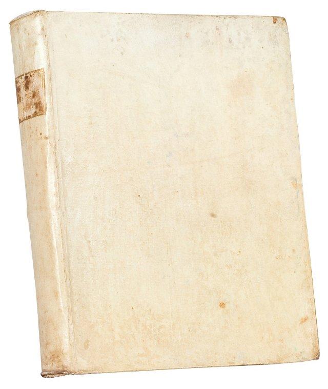 Antique Italian Vellum-Bound Book I