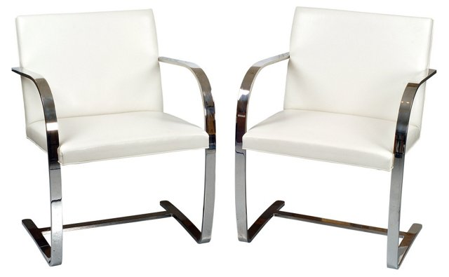 Vintage Knoll Brno Chairs, Pair