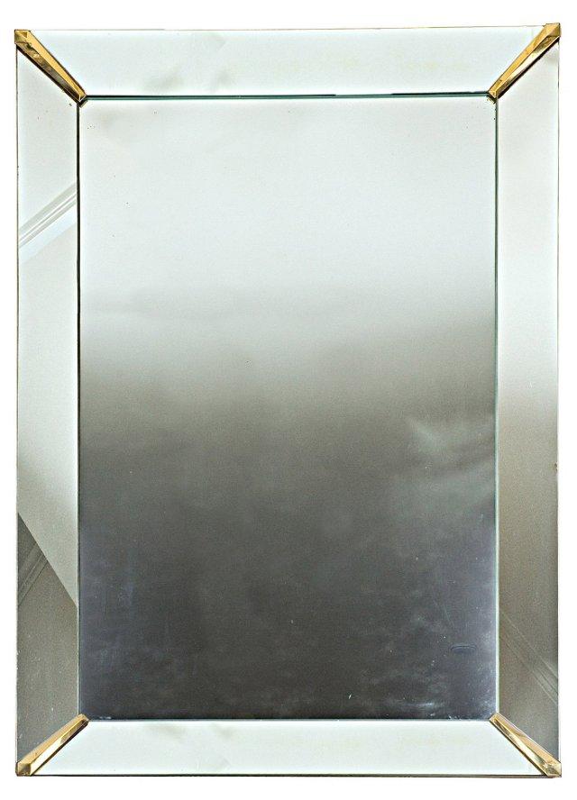 Vintage Mirror w/ Gilded Corners