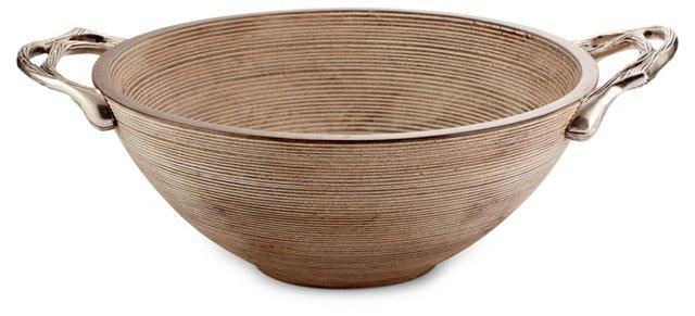 Weathered Wood Hand Bowl