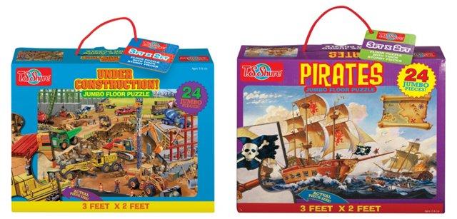 S/2 Floor Puzzle, Construction/Pirate