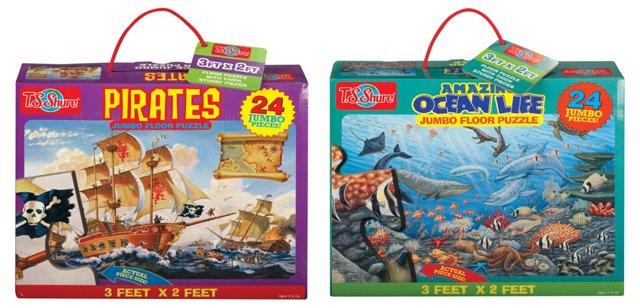 S/2 Floor Puzzles Pirates/Under the Sea