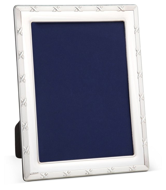 Sterling-Silver Ribbon Reed Frame, 8x10