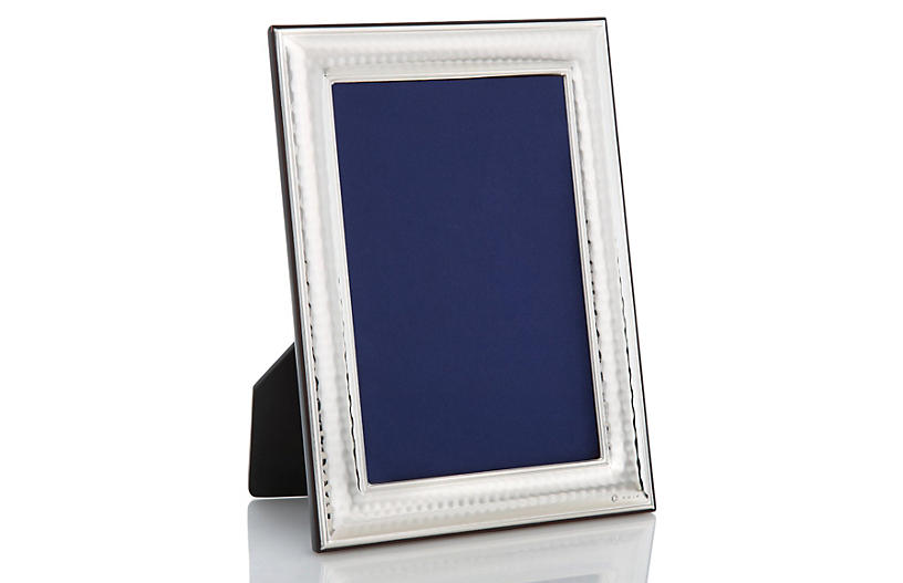 Sterling Hammered Point Frame, 8x10