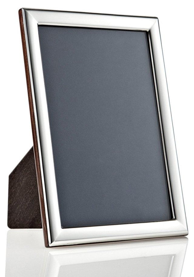 925 Sterling Plain Deco Frame, 5x7