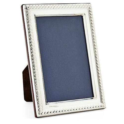 .925 Sterling-Silver Roped Frame, 2x3
