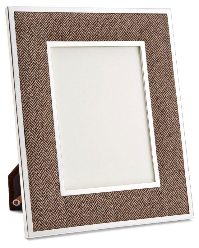 Herringbone Frame, 4x6, Brown
