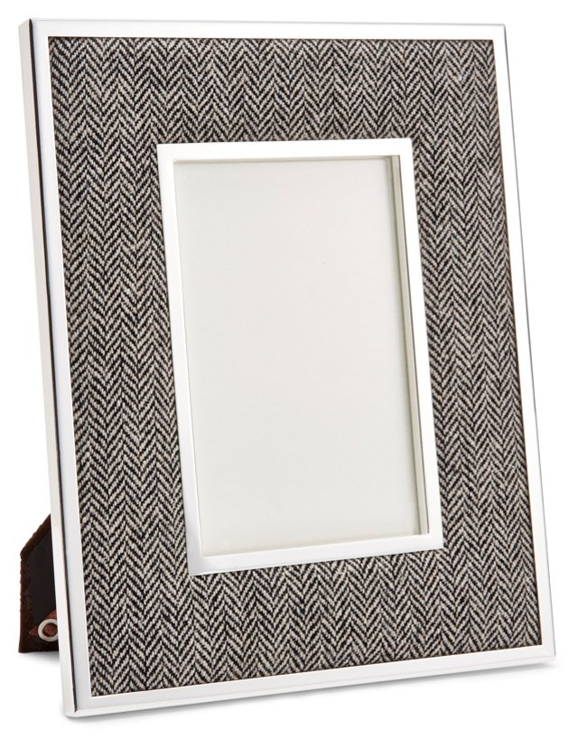 Herringbone Frame, 4x6, Gray